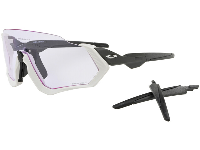 Oakley Flight Jacket - Gafas ciclismo - blanco